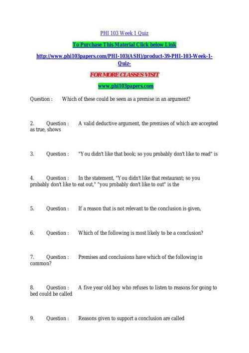 phi103 week1 media quiz essay example