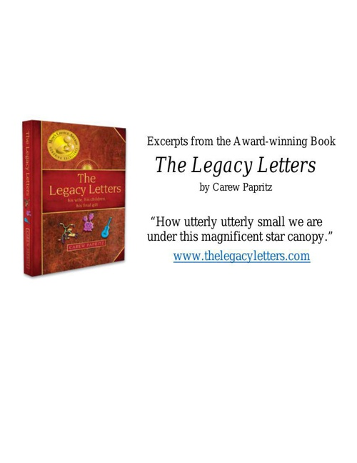 Excerpts from Award-winning--The Legacy Letters by Carew Papritz