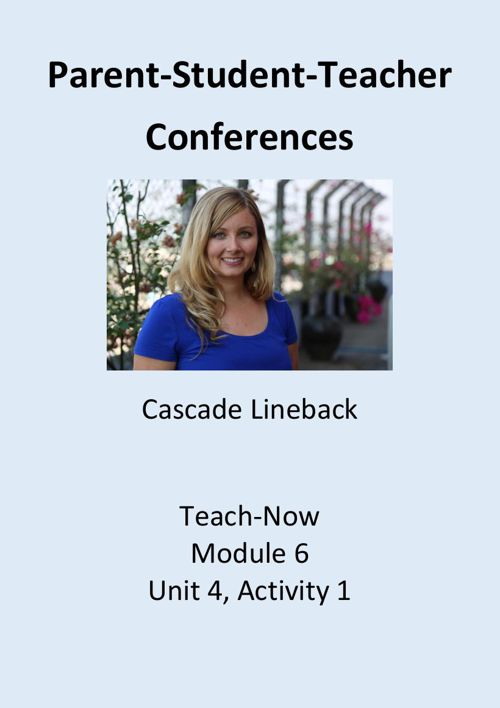 M6-U4-A1 - Lineback conferences