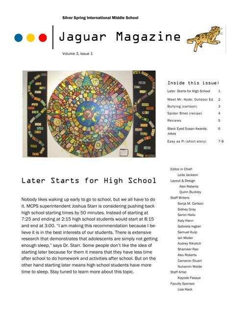 JagMag Fall 2013