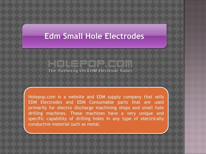 Edm Small Hole Electrodes