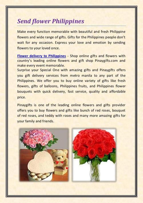 Send flower Philippines