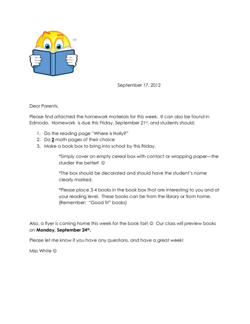 Homework materials for the week of September 17, 2012