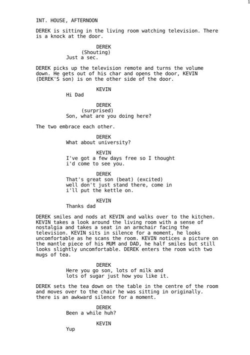 Screenplay - Coming Out