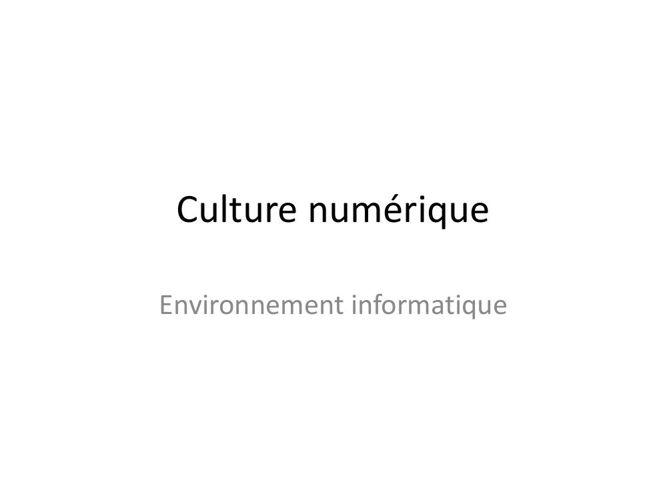Quizz de Culture numérique