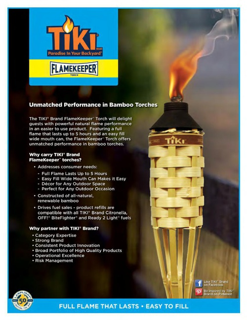 2015 - TIKI® Torches - Bamboo - FlameKeeper & Originals