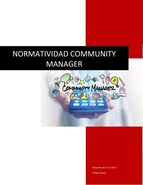 Normatividad Community Manager