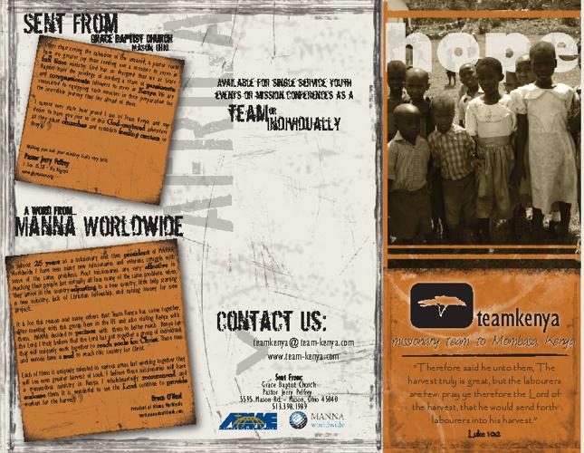 Ministry Presentation Booklet