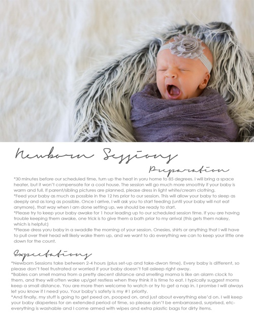 Newborn Session Preparation & Expectations