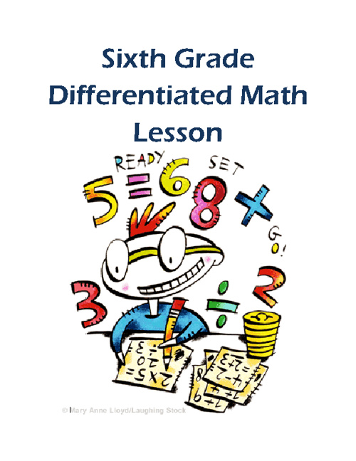 Sixth Grade Math Differentiation Lesson Plan Final Project
