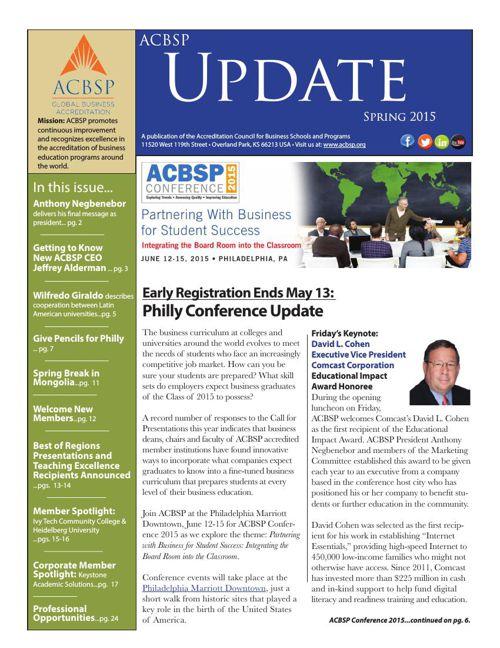 ACBSP Update Spring 2015
