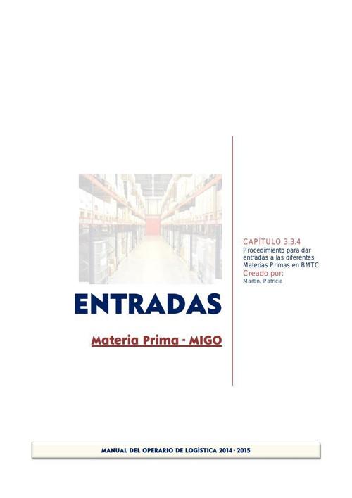 3.3_4 ENTRADAS Materia Prima MIGO