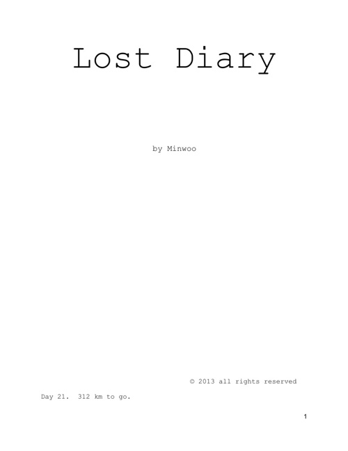 Lost Diary