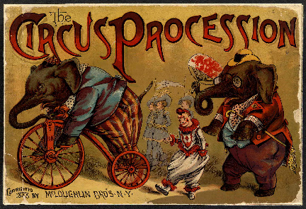 The Circus Procession by www.viintage.com