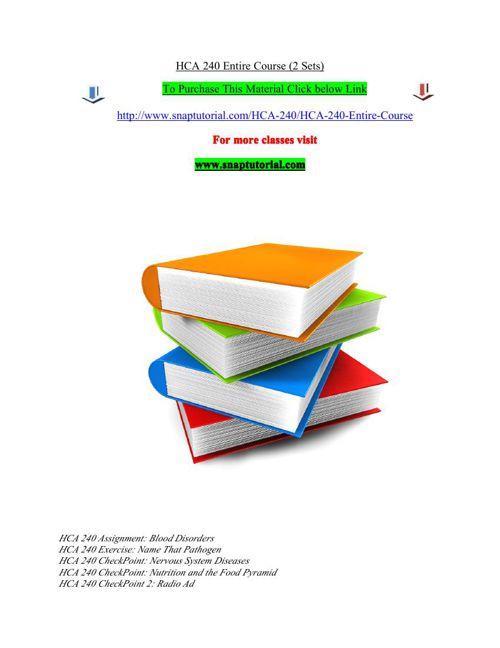 HCA 240 Entire Course (2 Sets)