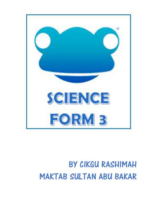 COVER SCIENCE FORM 3