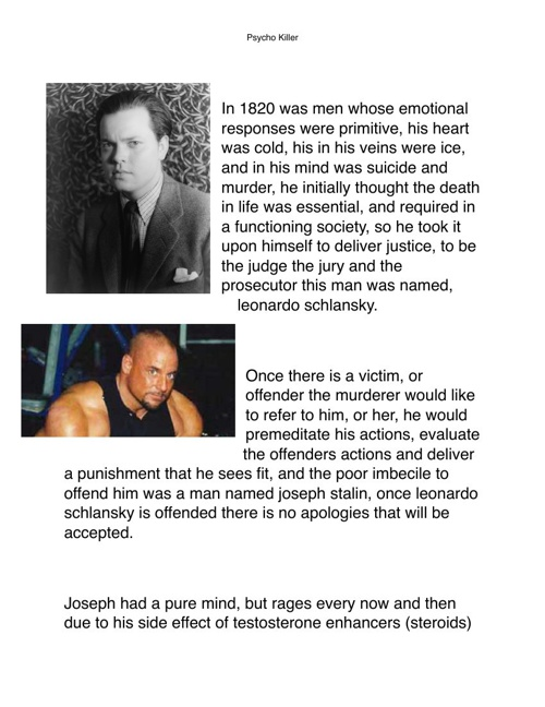story of psycho killers