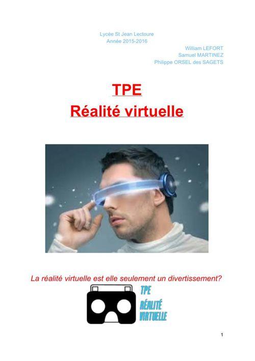 TPE réalité virtuelle