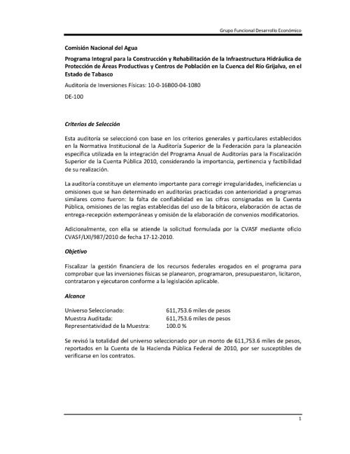 Rehabilitación de la Infraestructura Hidráulica en Río Grijalva