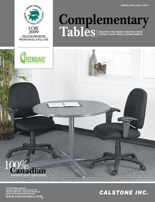 Complimentary Tables Catalogue