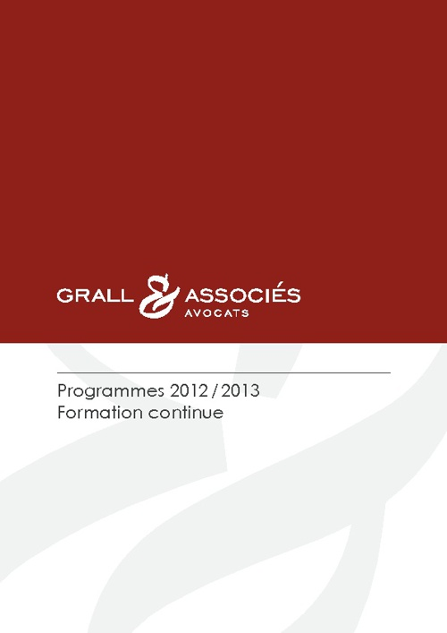 Grall & Associés - Formations 2012