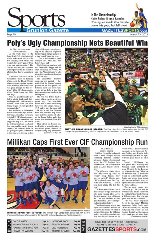 Gazette Sports   March 13, 2014
