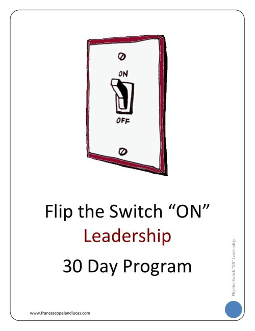 LEADERSHIP - 30 Day Program Workbook - Chapter 1