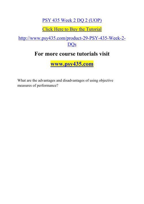 PSY 435 Week 2 DQ 2 (UOP)