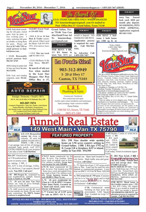 EPUB LONE STAR SHOPPER 11/30/2016