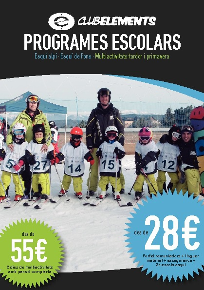 Programes escolars Club Elements