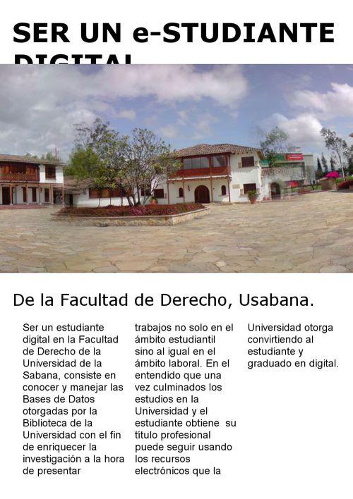 Ser un estudiante digital en la Universidad de la sabana
