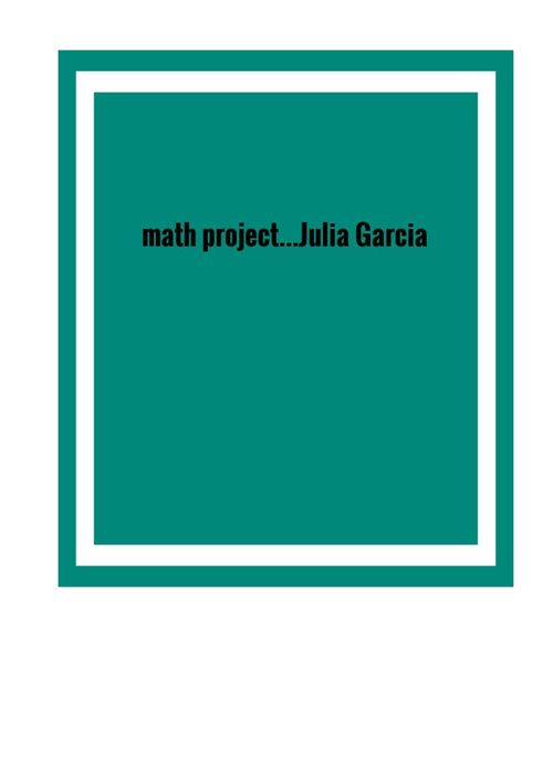 Julia Garcia math work
