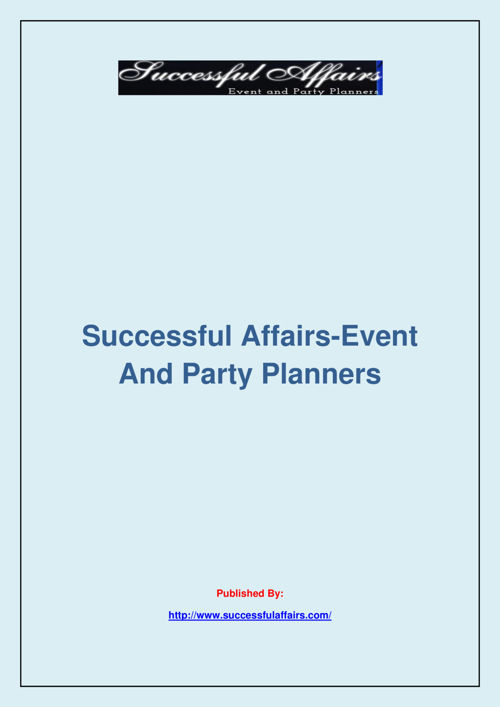 Successful Affairs-Event And Party Planners