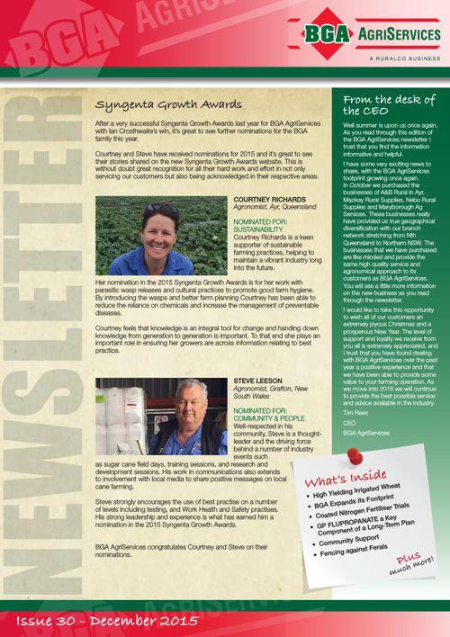 BGA Newsletter Summer 2015