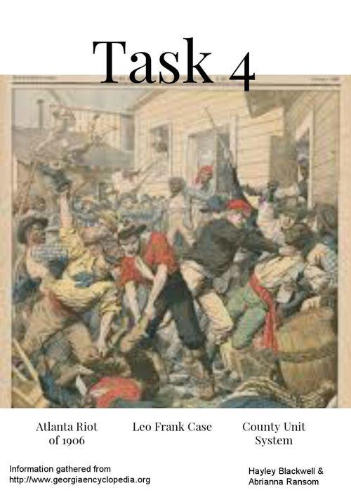 Leo Frank Case, County Unit System, Atlanta Race Riot
