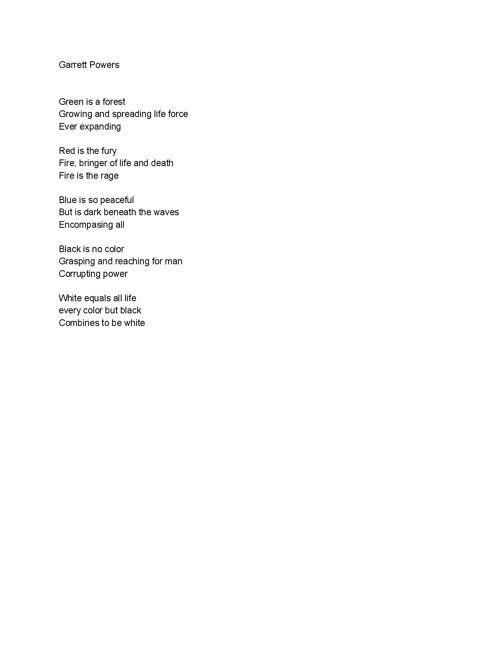haikui and free verse