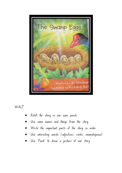 The Swamp Eggs - Retold by Room 15 Children