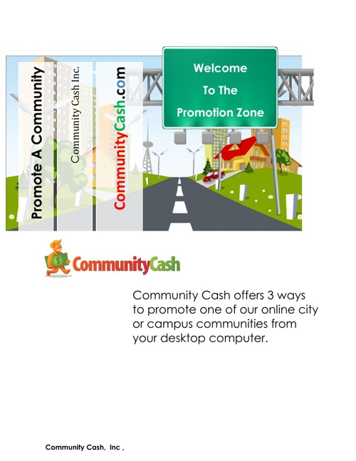 Promote A Community