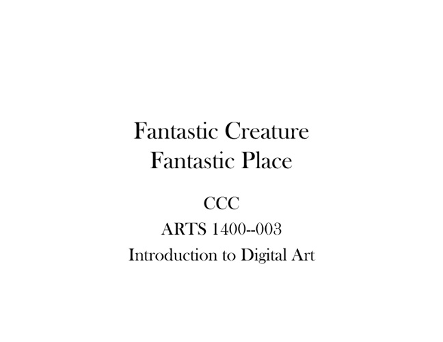 Fantastic Place/Creature Assignment