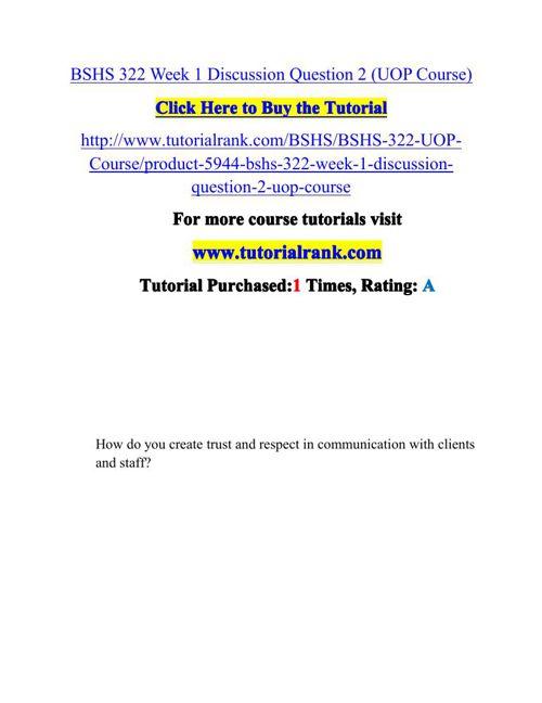 BSHS 322 Potential Instructors / tutorialrank.com
