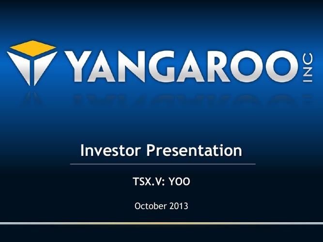 YANGAROO Inc. Investor Presentation