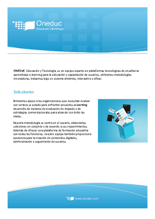 Brochure Oneduc Educación Virtual