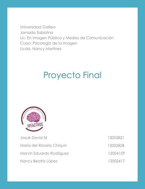 Proyecto Final Psicología de la Imagen
