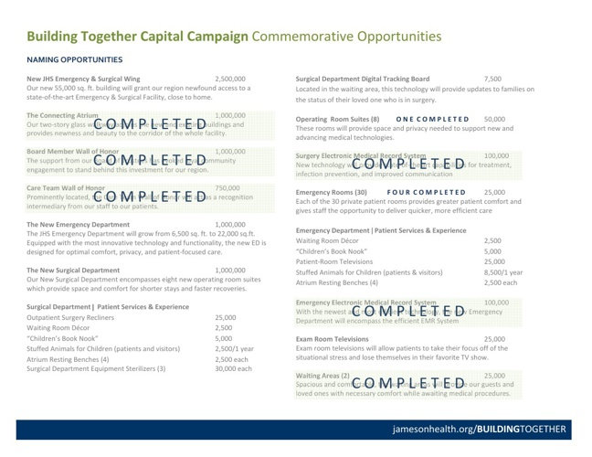 BUILDING TOGETHER Commemorative Opportunities (February 2013)