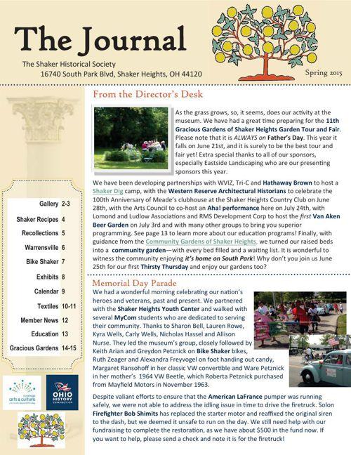 shs Spring 2015 newsletter print