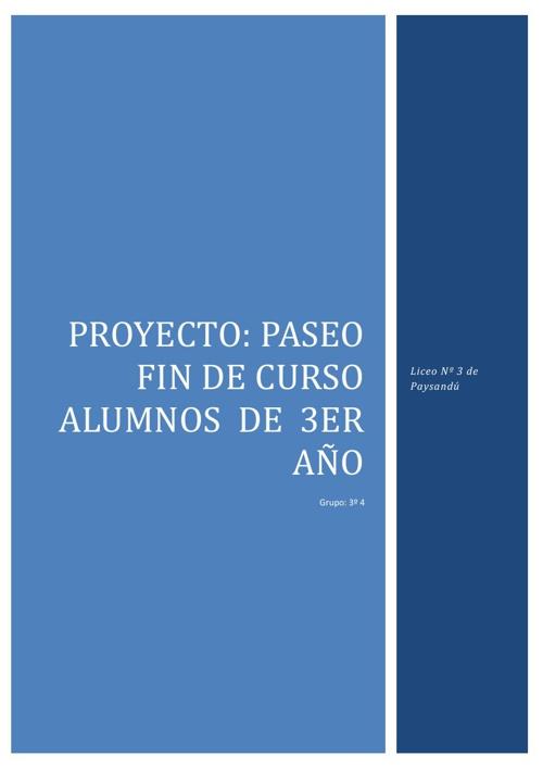 Proyecto Salida Liceo 3 Paysandú