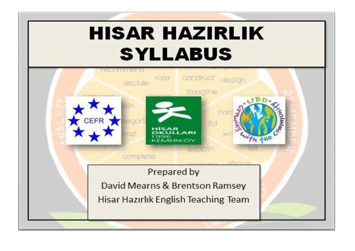 Hisar Hazırlık Syllabus Version 1.0