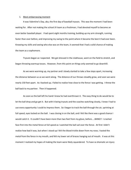 Trent Radding Narrative Project