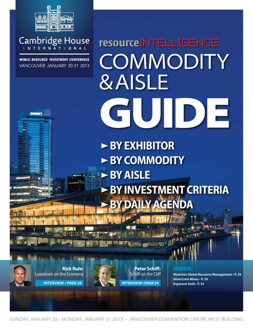VRIC Commodity & Aisle Guide Jan. 2013