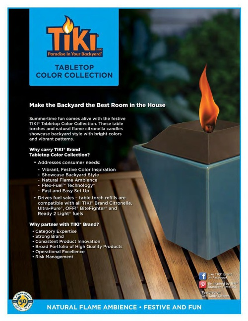 2015 - TIKI® Tabletop, Color Collection & Neutrals